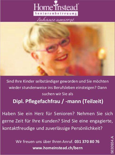 Dipl. Pflegefachfrau / -mann (Teilzeit), Home Instead Seniorenbetreuung Bern, gesucht