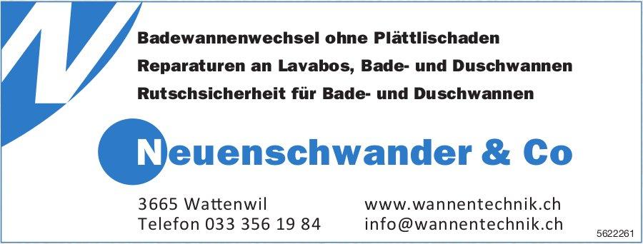 Neuenschwander & Co, Wattenwil - Badewannenwechsel ohne Plättlischaden