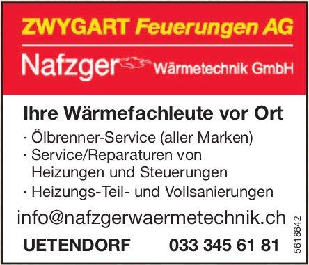 ZWYGART Feuerungen AG & Nafzger Wärmetechnik GmbH, Uetendorf
