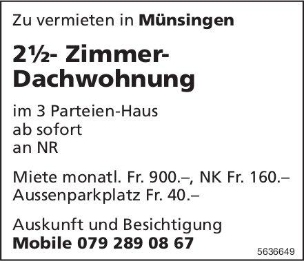 2½- Zimmer- Dachwohnung in Münsingen zu vermieten