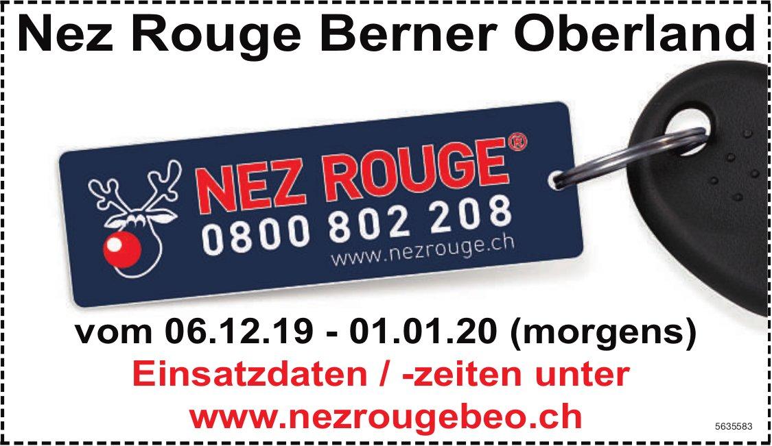 Nez Rouge Berner Oberland vom 06.12.19 - 01.01.20 (morgens)