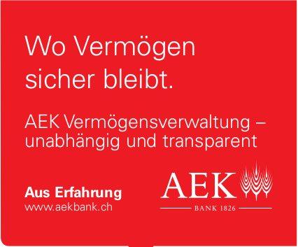 AEK Bank - Wo Vermögen sicher bleibt.