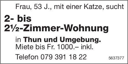 2- bis 2½-Zimmer-Wohnung in Thun und Umgebung gesucht