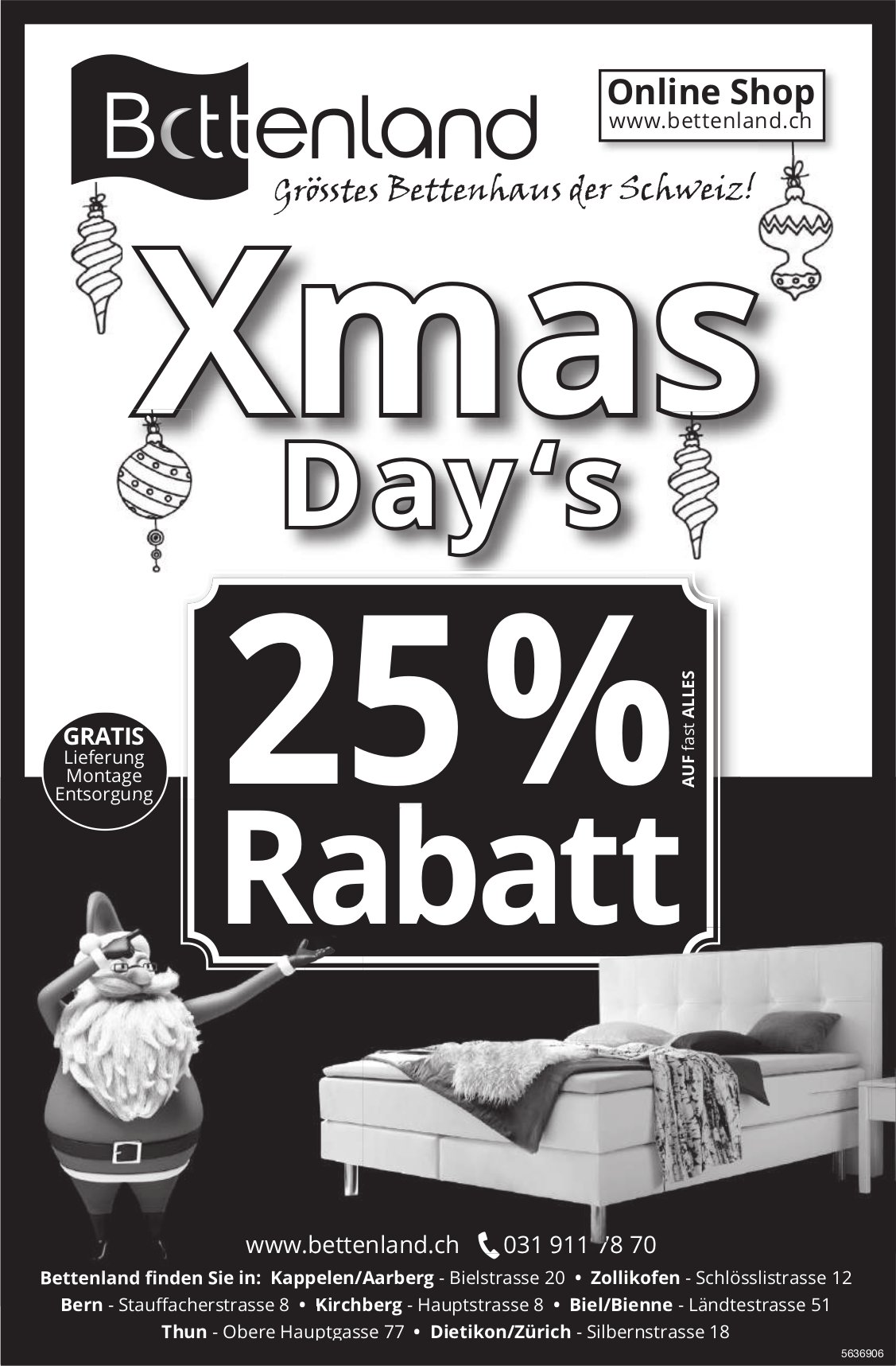 Bettenland - Xmas Day 's, 25% Rabatt