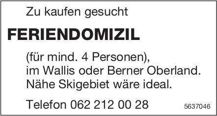 FERIENDOMIZIL (für mind. 4 Personen), im Wallis oder Berner Oberland zu kaufen gesucht