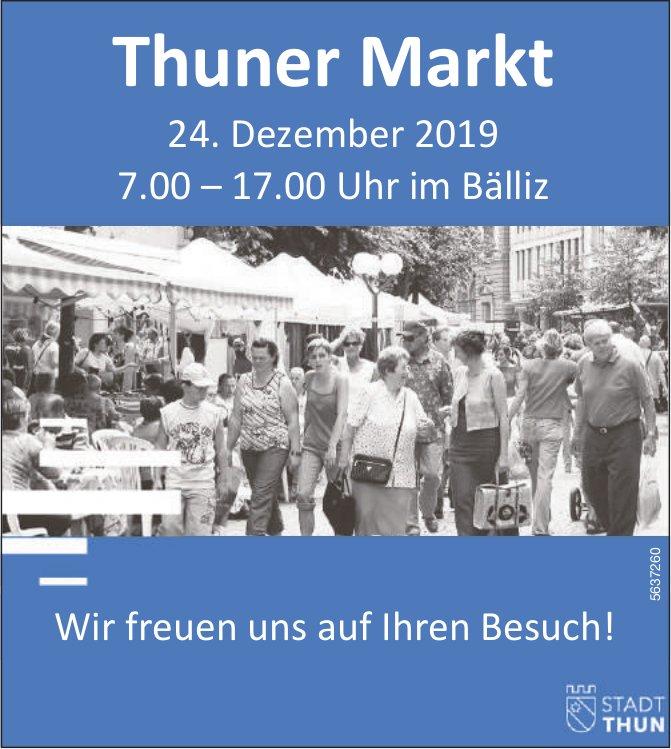 Stadt Thun - Thuner Markt am 24. Dezember