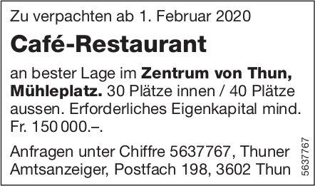 Café-Restaurant an bester Lage im Zentrum von Thun zu verpachten