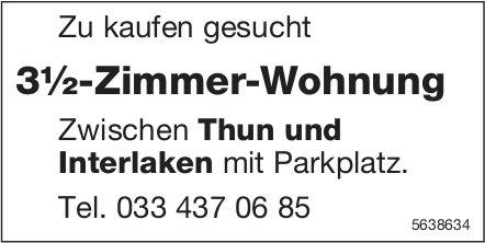 3.5 Zimmer-Wohnung zwischen Thun und Interlaken mit Parkplatz zu kaufen gesucht