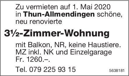 3½-Zimmer-Wohnung in Thun-Allmendingen zu vermieten