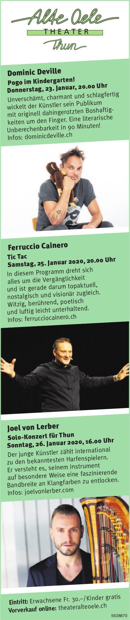 Alte Oele Theater - Programm