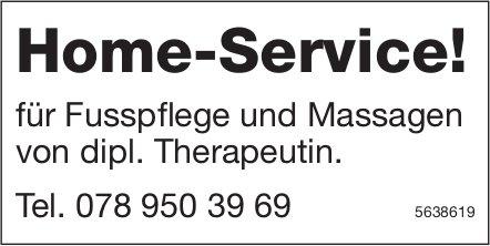 Home-Service! für Fusspflege und Massagen