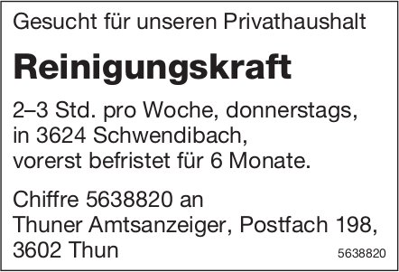 Reinigungskraft, Privathaushalt,  Schwendibach, Gesucht