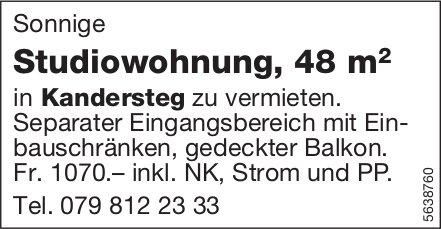 Studiowohnung, 48 m2 in Kandersteg zu vermieten.