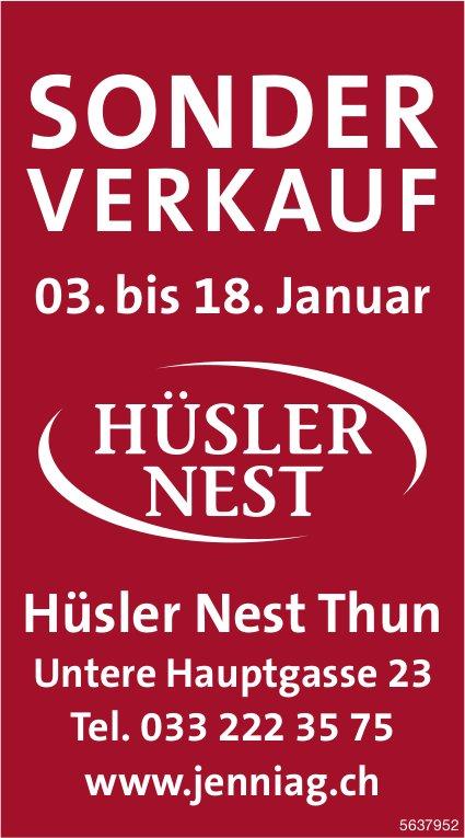 SONDERVERKAUF, 3. - 18. Januar, Hüsler Nest Thun