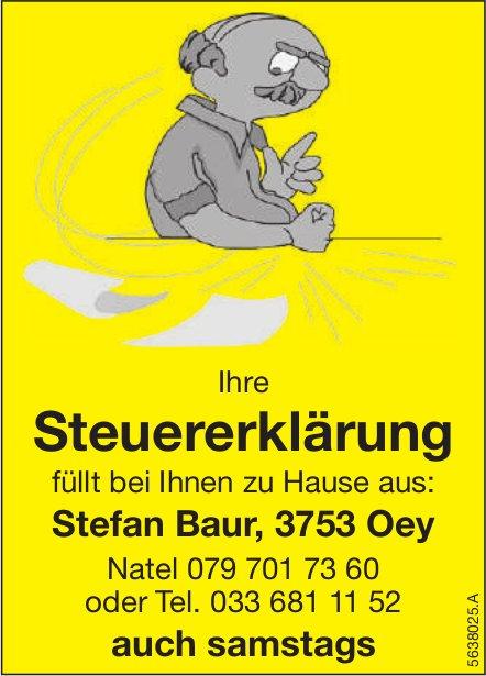 Stefan Baur, Oey - Ihre Steuererklärung bei Ihnen zu Hause ausgefüllt