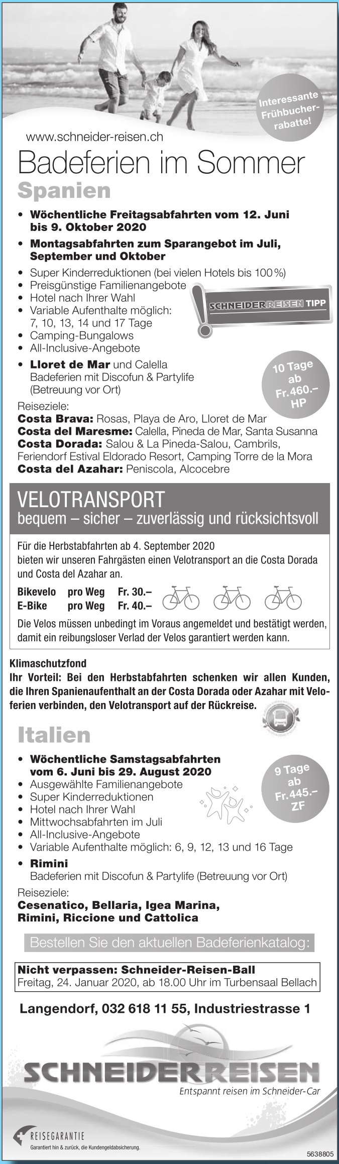 Schneider Reisen - Programm & Events