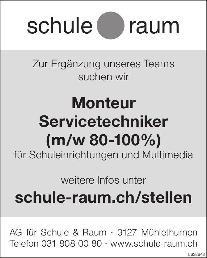 Monteur Servicetechniker (m/w 80-100%), AG für Schule & Raum,  Mühlethurnen, Gesucht