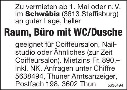 Raum, Büro mit WC/Dusche im Schwäbiıs in Steffisburg zu vermieten