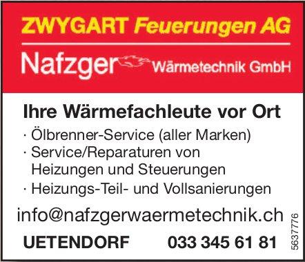 ZWYGART Feuerungen AG - Ihre Wärmefachleute vor Ort