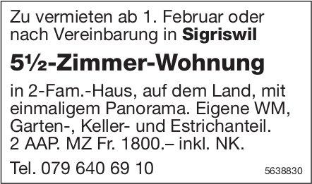 5.5 Zimmer-Wohnung in Sigriswil zu vermieten