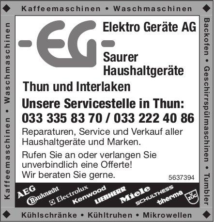 Elektro Geräte AG - Saurer Haushaltgeräte Thun!