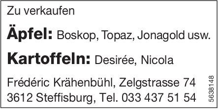 Äpfel & Kartoffeln zu verkaufen - Frederic Krähenbühl