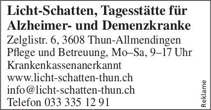 Licht-Schatten, Tagesstätte für Alzheimer- und Demenzkranke, Thun-Allmendingen