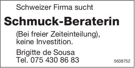 Schmuck-Beraterin, Schweizer Firma, Gesucht