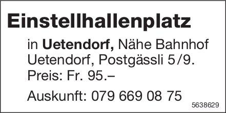 Einstellhallenplatz in Uetendorf zu vermieten