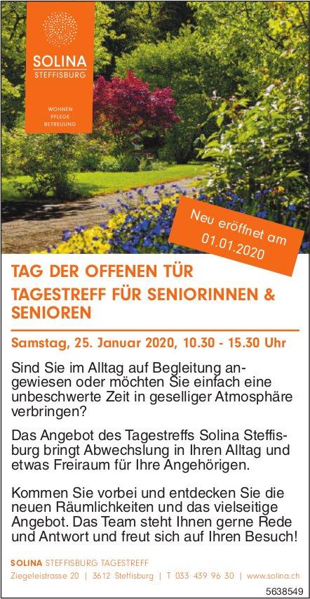 SOLINA - TAG DER OFFENEN TÜR/ TAGESTREFF FÜR SENIORINNEN & SENIOREN AM 25. JANUAR