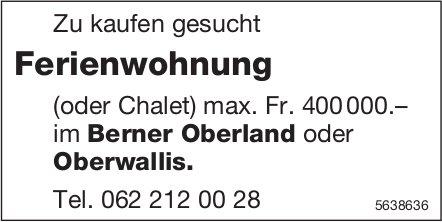 Ferienwohnung (oder Chalet) im Berner Oberland oder Oberwallis zu kaufen gesucht