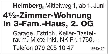 4.5 Zimmer-Wohnung, Heimberg, zu verkaufen