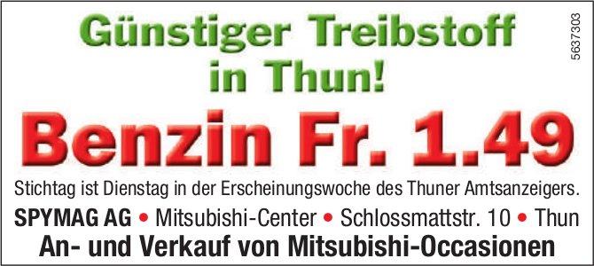 SPYMAG AG - Günstiger Treibstoff in Thun! Benzin Fr. 1.49