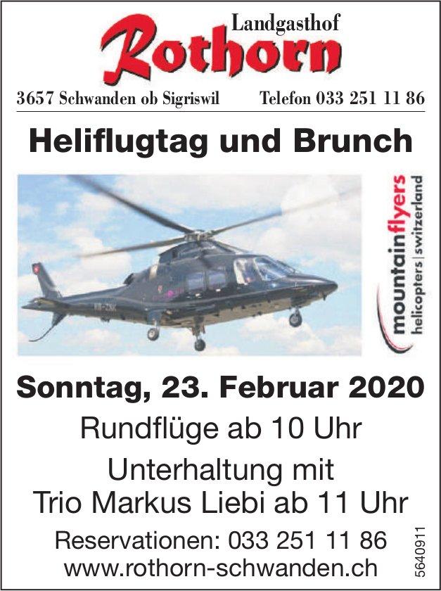 Landgasthof Rothorn - Heliflugtag und Brunch am 23. Februar