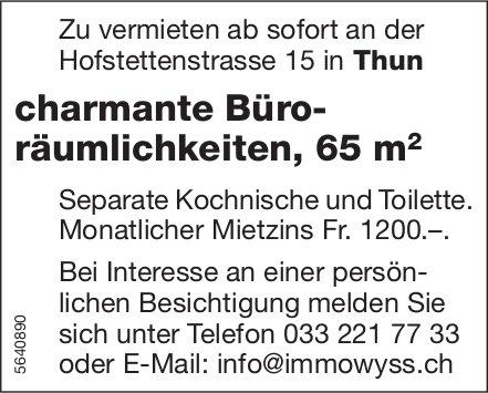 Charmante Büroräumlichkeiten, 65 m2 in Thun zu vermieten