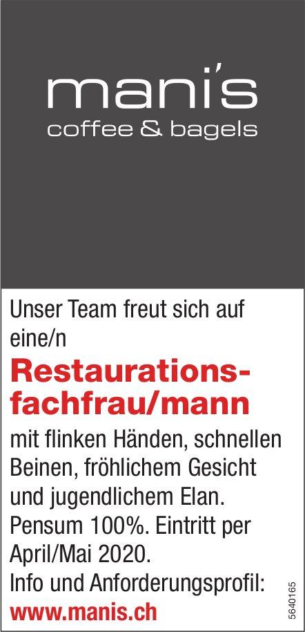 Restaurationsfachfrau/mann, mani's coffee & bagels, gesucht