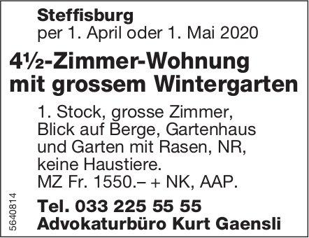 4½-Zimmer-Wohnung mit grossem Wintergarten in Steffisburg zu vermieten