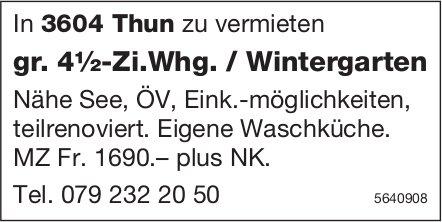 Gr. 4½-Zi.Whg. / Wintergarten in Thun zu vermieten