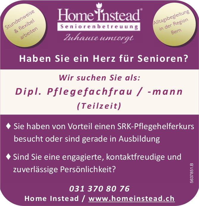 Dipl. Pflegefachfrau/-mann(Teilzeit), Home Instead Seniorenbetreuung, Bern, gesucht