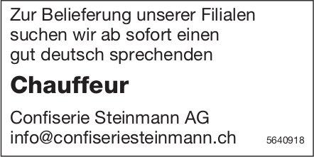 Chauffeur, Confiserie Steinmann AG, gesucht