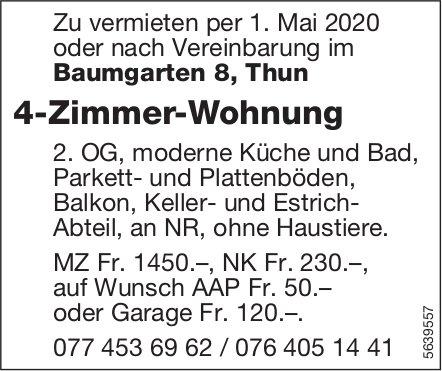 4 Zimmer-Wohnung in Thun zu vermieten