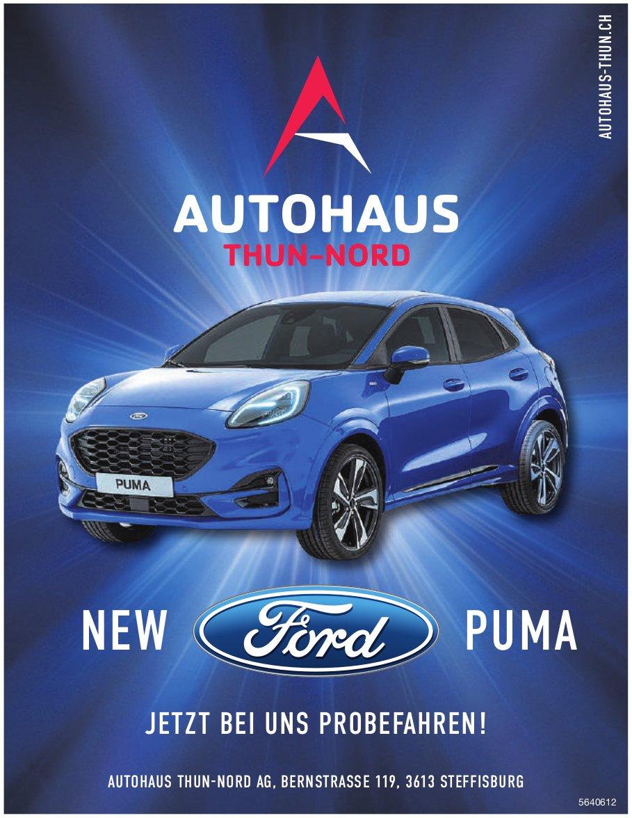 AUTOHAUS THUN-NORD AG,  STEFFISBURG, NEW Ford PUMA