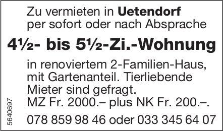 4½- bis 5½-Zi.-Wohnung in Uetendorf zu vermieten