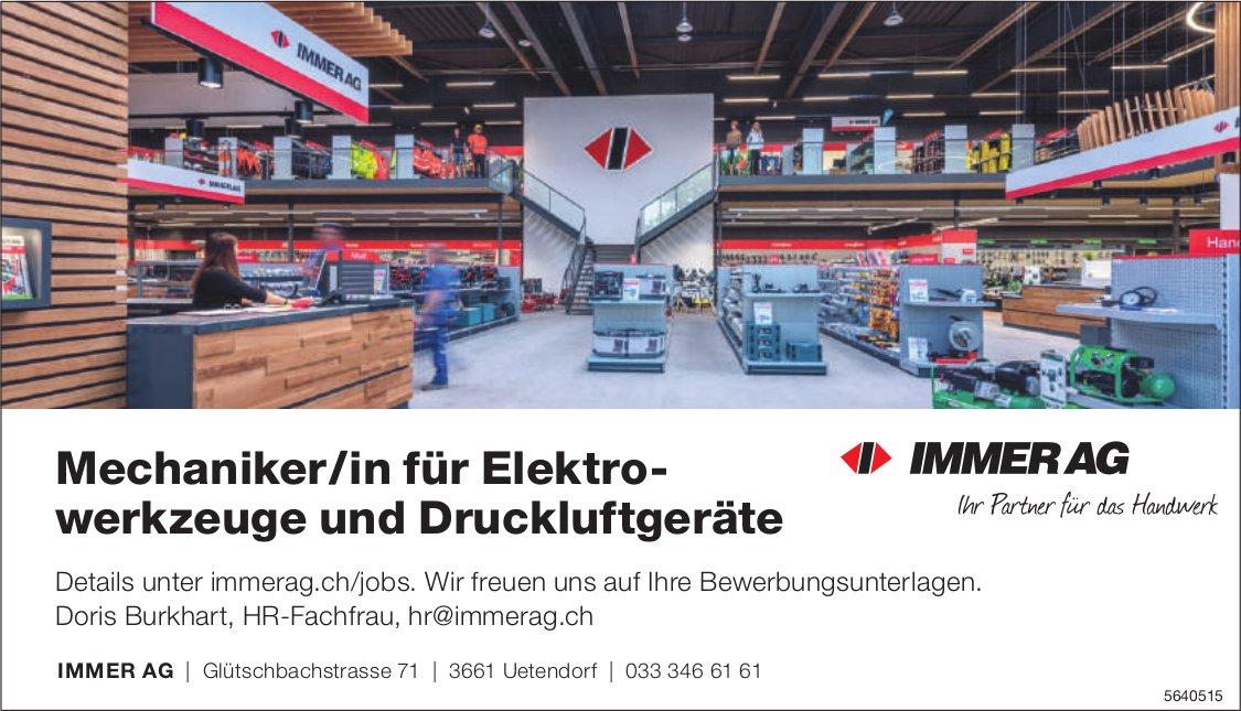 Mechaniker/in für Elektrowerkzeuge und Druckluftgeräte, IMMER AG,  Uetendorf, gesucht