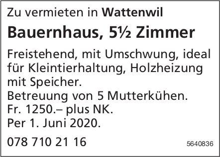 Bauernhaus, 5½ Zimmer in Wattenwil zu vermieten
