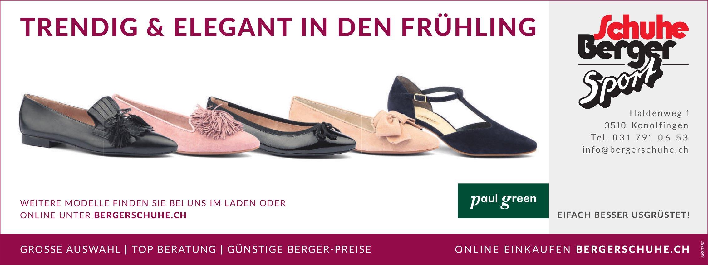 Schuhe Berger Sport,  Konolfingen - TRENDIG & ELEGANT IN DEN FRÜHLING
