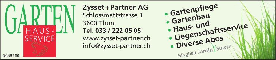 Zysset + Partner AG,  Thun, Garten Hausservice
