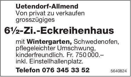 6½-Zi.-Eckreihenhaus in Uetendorf-Allmend, zu verkaufen