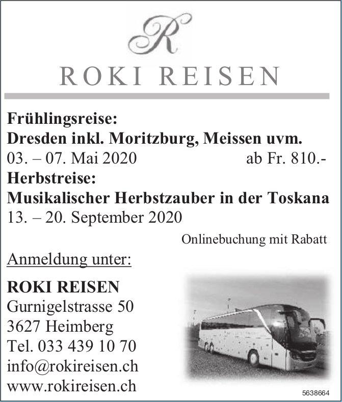 ROKI REISEN - Frühlingsreise / Herbstreise