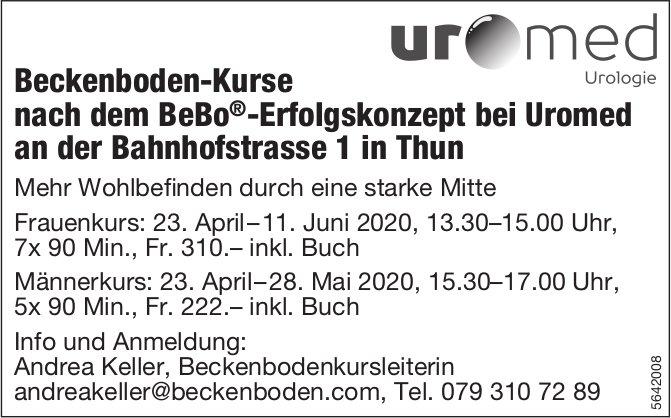Beckenboden-Kurse nach dem BeBo®-Erfolgskonzept, Uromed, Thun